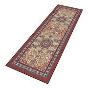 NOTRAX 170S0412BD Carpeted Runner, Burgundy, 4 x 12 ft.