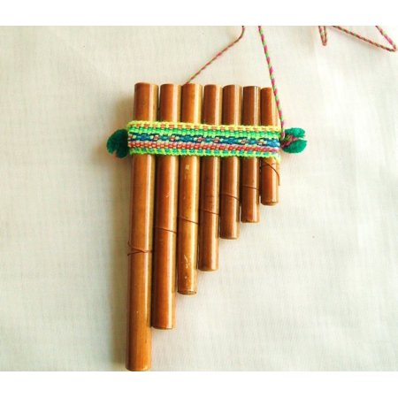 Peruvian Bamboo Pan Flute Small Five X Three Inches
