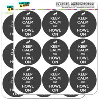 """Keep Calm And Howl On Wolf 18 2"""" Planner Calendar Scrapbooking Crafting Stickers"""
