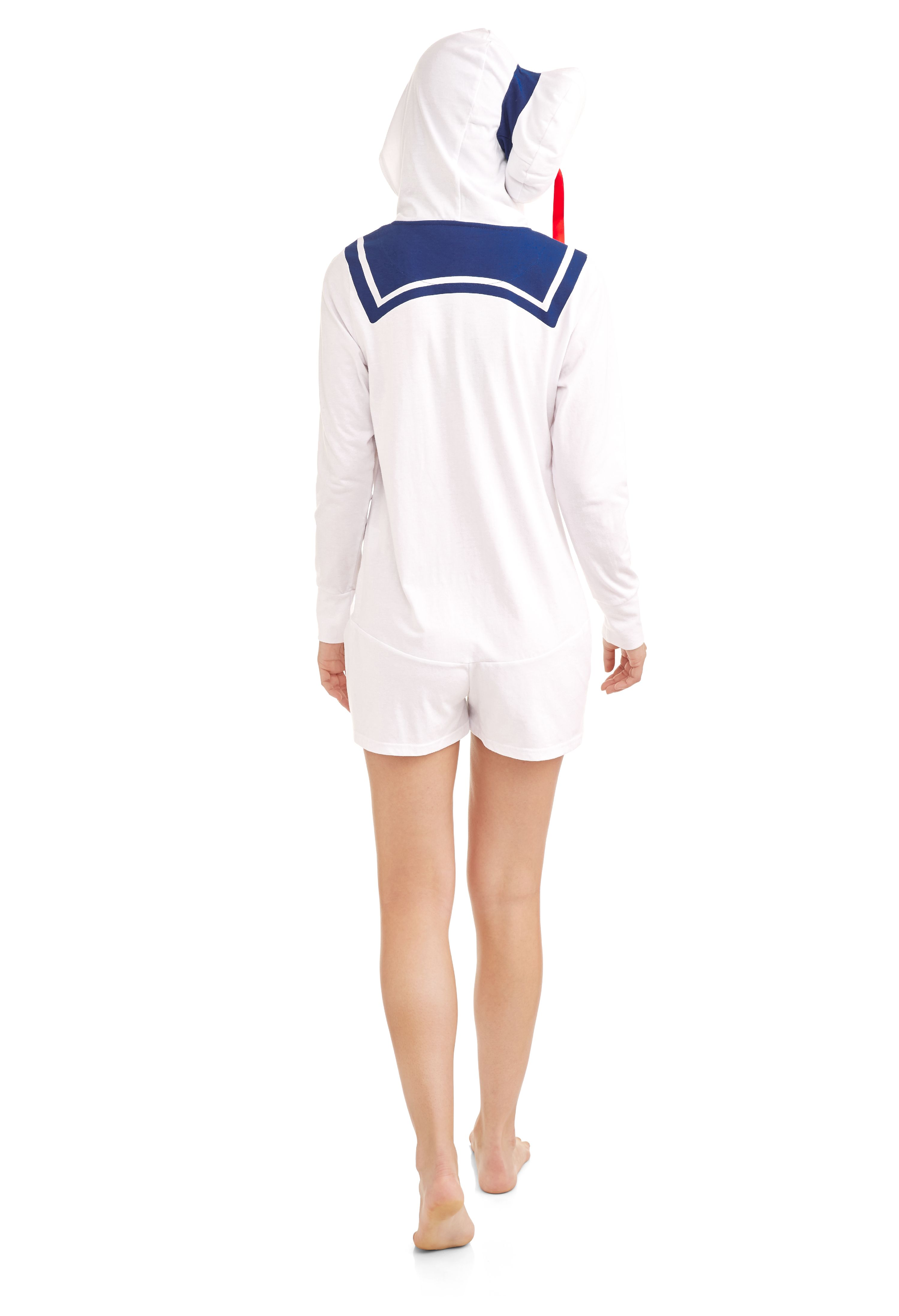 3d248d6c6d4 License - Ghostbusters Stay Puff Marshmallow Women s Sleepwear Adult  Costume Rompers - Walmart.com