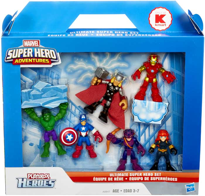 Marvel Playskool Heroes Ultimate Super Hero Set Mini Figure 6-Pack