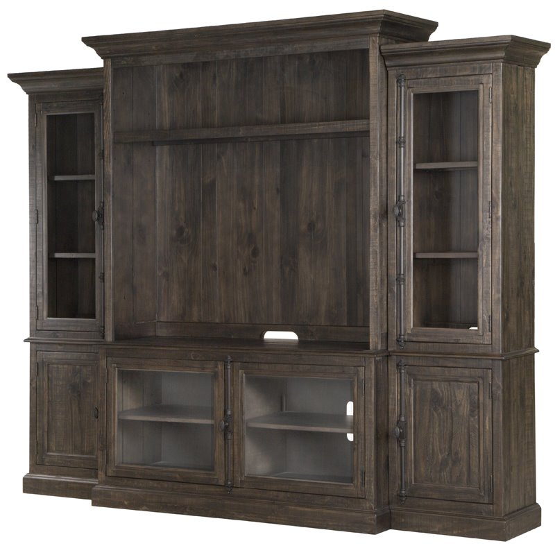 Magnussen Bellamy Traditional Rustic Entertainment Wall