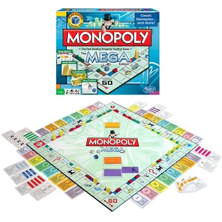 Monopoly The Mega Edition, THE MEGA EDITION: The fast dealing property Trading Game. By Winning Moves (Monopoly Property Trading Game From Parker Brothers)