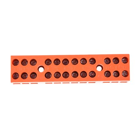 Terminal Block, 600V 36A Dual Row 12 Positions H3801-12 Screw Terminal 2 Pcs - image 1 of 3