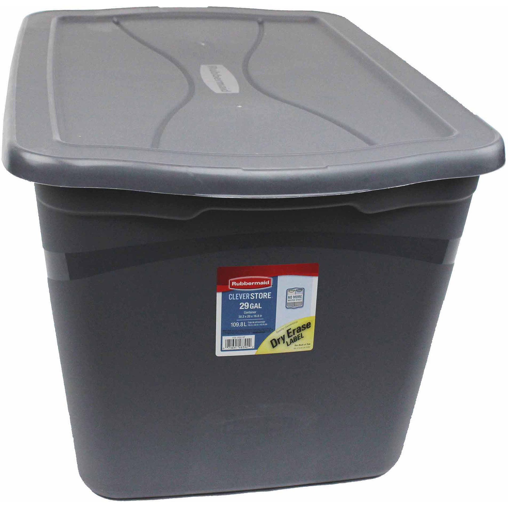 Rubbermaid Clever Store Tote, 29 Gal., Gray
