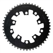 Eclypse, Glide-Pro 110, 53T, 8-10sp, BCD: 110mm, 5 Bolt Outer Chainring, Alloy, Black