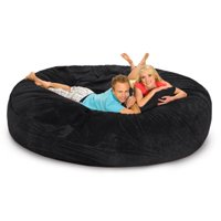 RelaxSacks 8DM-MS010 8 ft. Round Relax Sack - Microsuede Purple