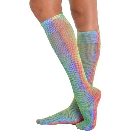 Womens Rainbow Trouser Socks Knee High Sock Accessory