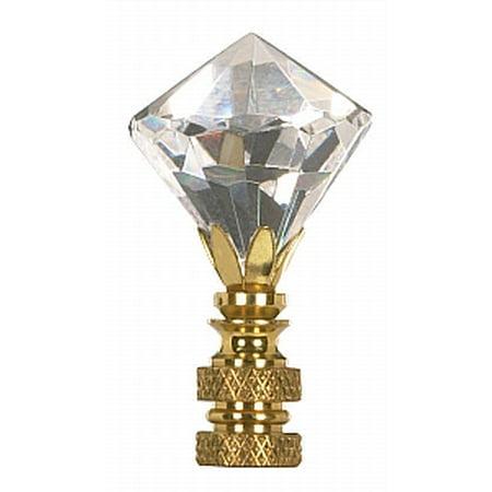 Satco Diamond Cut Crystal Finial 2-1/4in Height 1/4-27