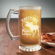 Personalized Outdoorsman Beer Mugs, 13 oz - Moose Lodge