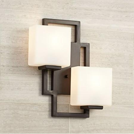 Possini Euro Design Modern Wall Light Bronze 15 1/2