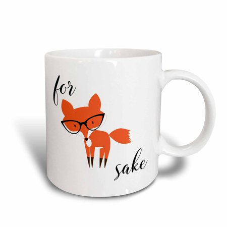 Daiginjo Sake - 3dRose For Fox Sake - Ceramic Mug, 11-ounce