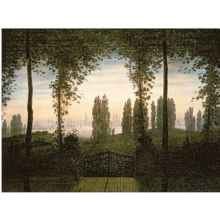 Trademark Art Remembrence of Johann Bremen Canvas Art by Caspar Friedrich