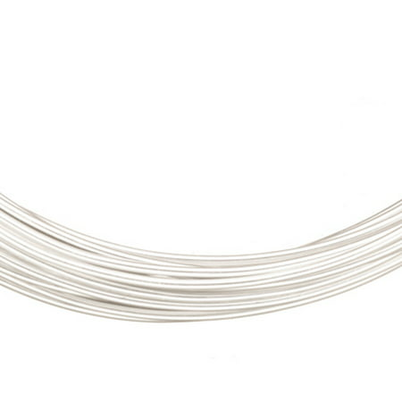 Aluminum Beading Wire, Anodized Silver 14 Gauge 48-foot coil jewelry wire