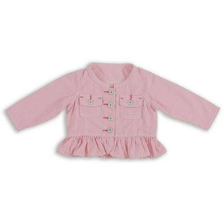 1f989f2cc467 Wrangler - Baby Girl Peplum Denim Jacket - Walmart.com