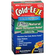 Cold-Eeze Cold Remedy Honey Lemon Multi- Symptom Relief QuickMelts - 24 Count Tablets