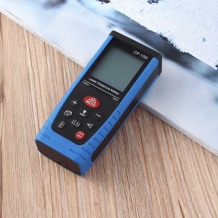 Laser Range Finder 100M(328Ft) Digital Laser Distance Meter Measure Range Finder Area Volume