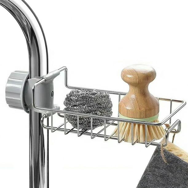 Kitchen Sponge Holder Bigroof Stainless Steel Sink Holder Dish Brush Sink Caddy Basket For Kitchen Sink Walmart Com Walmart Com