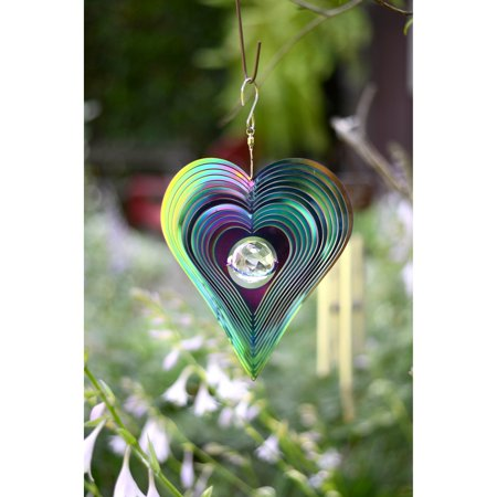 Red Carpet Studios Rainbow Cosmo Heart Wind Spinner - Rainbow Wind Spinners