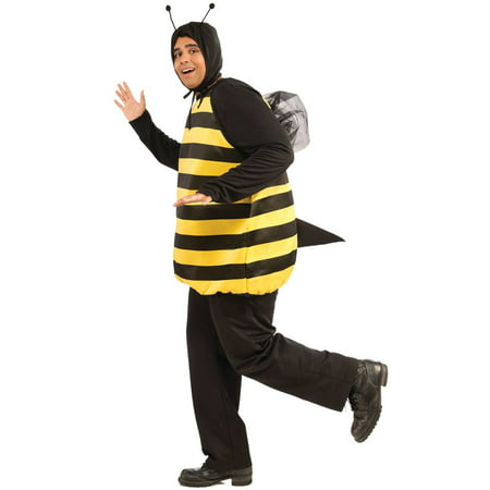 Bumble Bee Adult Costume Plus - Male Bee Costume