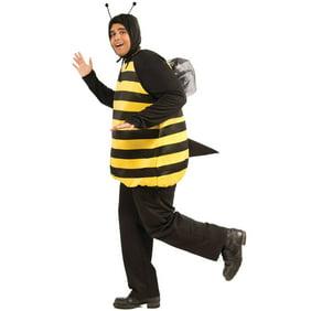 Womans Darling Bee Halloween Costume Plus Size Romper Wings Headband