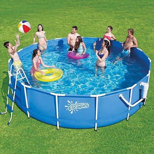 Summer Escapes 15ft Metal Frame Pool Set (deluxe Kit) - Walmart.com