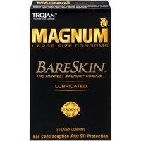Trojan Magnum Bareskin Large Size Condoms - 10 Count