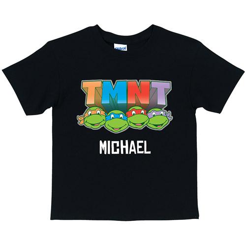 Personalized Teenage Mutant Ninja Turtles Toddler Retro Black T-Shirt
