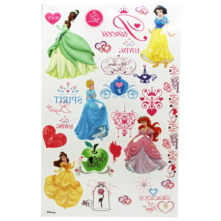 Disney Princess Hearts and Characters Kids Temporary Tattoos for $<!---->