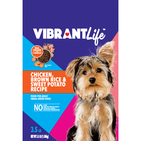 vibrant life small breed chicken brown rice sweet potato dry dog food 3 5 lb bag. Black Bedroom Furniture Sets. Home Design Ideas