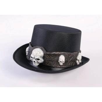HAT - TOP HAT W/SKULLS - Beaver Skin Top Hat