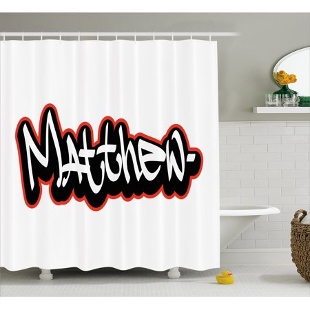Matthew Shower Curtain Font Design Inspired By Hip Hop Culture And Street Art Name For Men