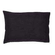 Burlap Black Pillow Case Set of 2 21x30