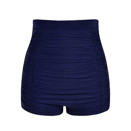 b9b7bd6880e Sexy Dance - Ladies Girls Women Wrinkle High Waist Bikini Bottoms Tankini  Swim Briefs Beach Shorts Bath Pants Swimwear Swimsuit Beachwear Dark Blue  Black ...