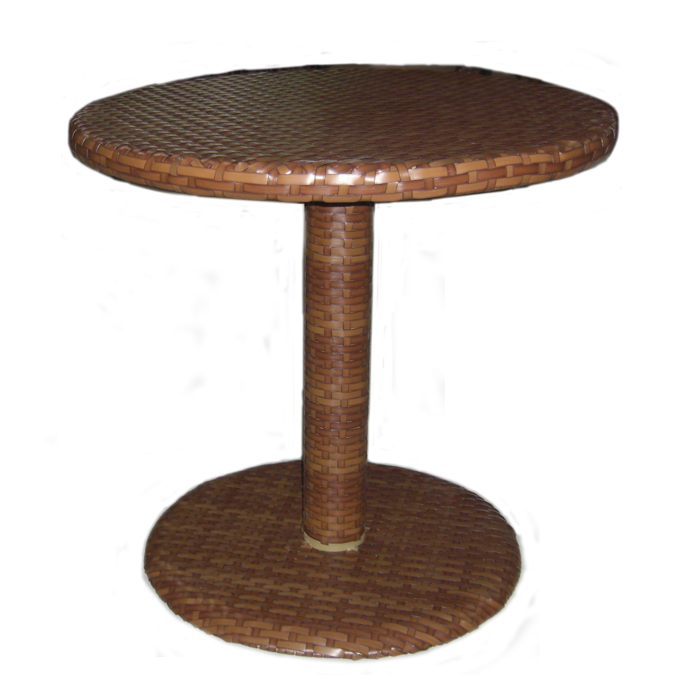 Panama jack st barths woven 30 in bistro dining table brown pine with viro fiber walmart com