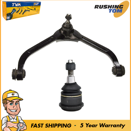 1 Premium Upper Control Arms & 1 Lower Ball Joints fits Jeep Liberty