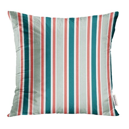 Classic Tall Wool Stripe - USART Blue Twill Vertical Stripes Pattern Red Wool Abstract Classic Fine Geometric Pillowcase Cushion Cases 18x18 inch