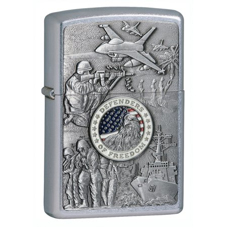 Zippo Brushed Chrome Timberwolves Emblem (Zippo Joined Forces Emblem Street Chrome Lighter )