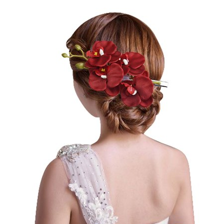 Womens Flower Hair Clip Hairpin Bridal Hawaii Party Hair Clip RD (Hair Flower Clips)