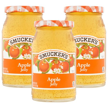 (3 Pack) Smucker's Apple Jelly, 18 oz - Kosher Lime Jelly