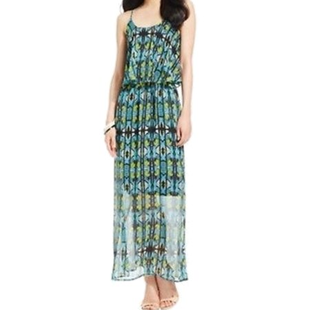 8620bf2ce70 NY Collection - NY Collection NEW Green Womens Size Small S Chiffon Popover  Maxi Dress - Walmart.com