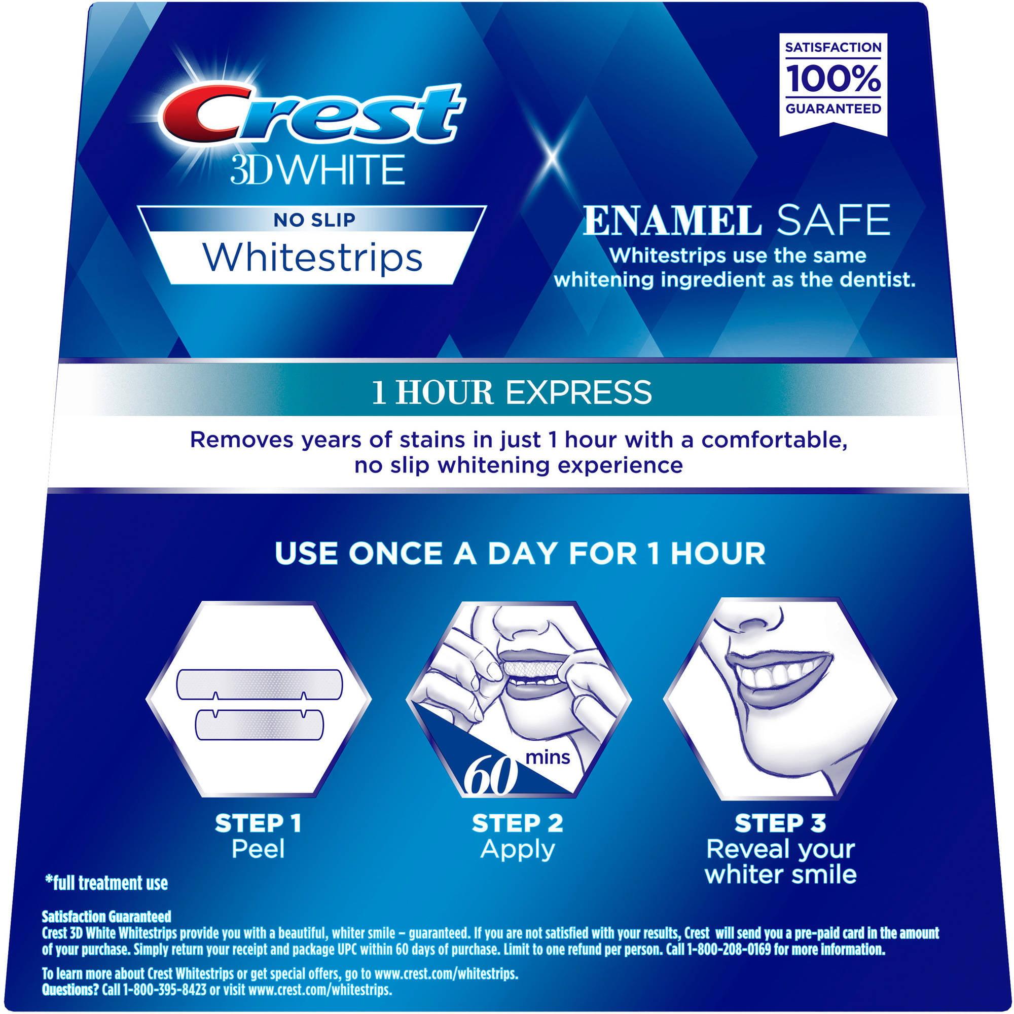 Crest 3d White Whitestrips 1 Hour Express Teeth Whitening Kit 7