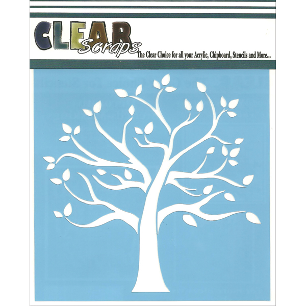 "Clear Scraps Stencils, 12"" x 12"", Family Tree"