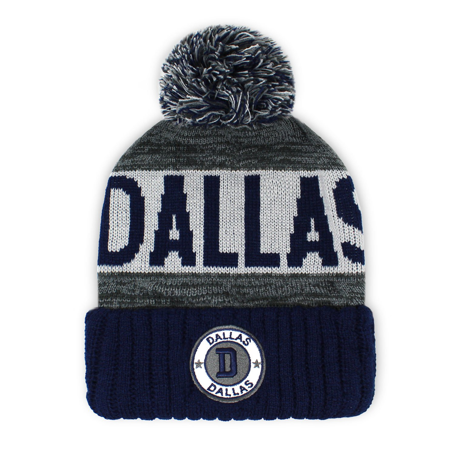 Football City Pom Beanie Premium Embroidered Patch Winter Soft Thick Beanie Skully Hat SP101