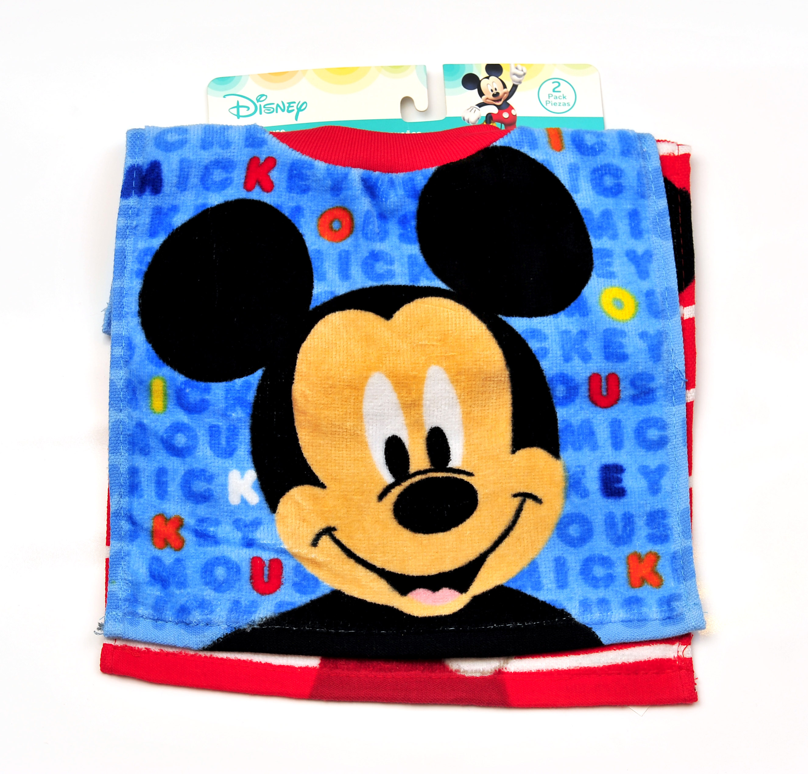 Mickey Mouse 2 Pk. Towel Bibs