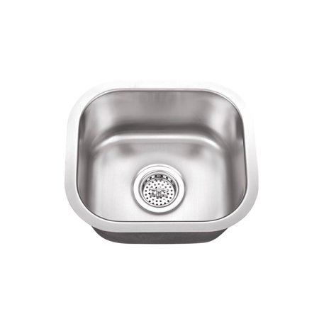 Undermount Hammertone Bar - Undermount 14-1/2 in. Single Bowl 18 Ga. Stainless Steel Bar Sink