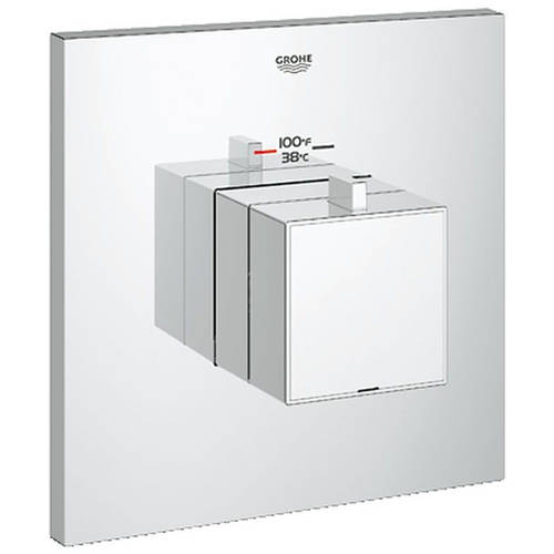 Grohe 19928000 Eurocube Custom Shower Thermostatic Trim with Control Module, Chrome