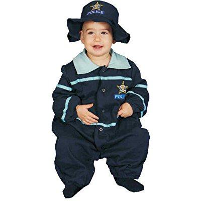 uhc baby's police officer uniform infant toddler fancy dress halloween costume, 9-12m