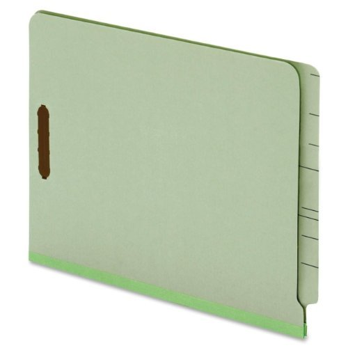 "Globe-weis End Tab Pressboard Folder With Fastener - Letter - 8.50"" X 11"" - 2 Fastener - 2"" Folder Fastener Capacity - 25 Pt. - Pressboard - Light Green - 25 / Box (GLW44725)"