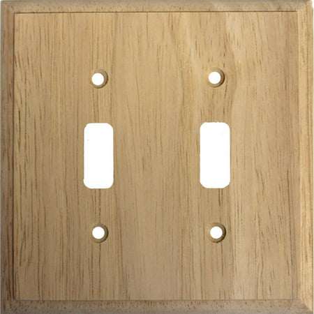 Traditional Unfinished Wooden Double Toggle Light Switch Cover Light Switch Cover Stone
